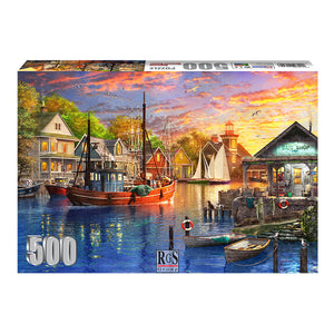 RGS American Harbour Sunset 500pc Adult Puzzle