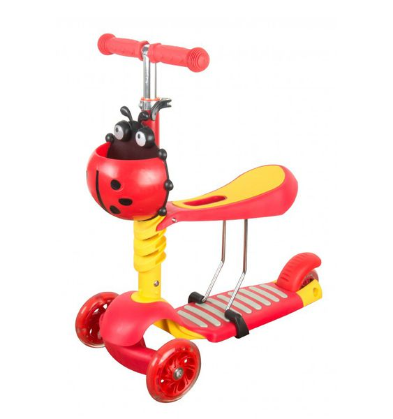 Scuttlebug 3-In-1 Scooter - Red