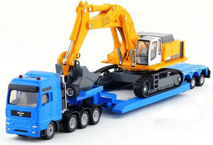 Siku MAN Truck and Trailer with Liebherr Excavator 1:87