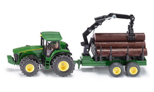 Siku John Deere 8430 Tractor with Forestry Trailer - Scale 1:50