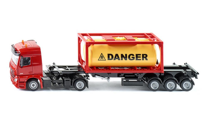 Siku Mercedes-Benz Truck With Tank Container 1:50