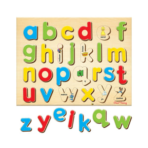 Smart Play Alfabet Kleinletters Afrikaans Tray Puzzle 26 Pieces