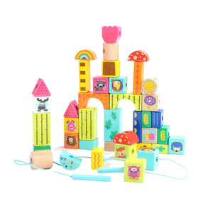 TopBright Forest Animal Building Blocks in barrel