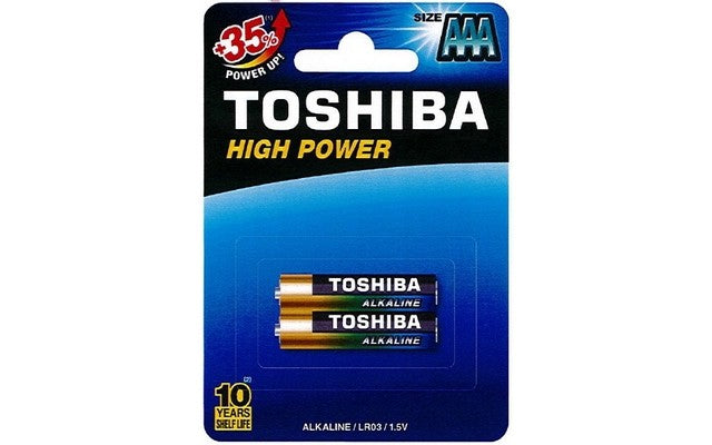 Toshiba AAA High Power Alkaline Batteries (2)