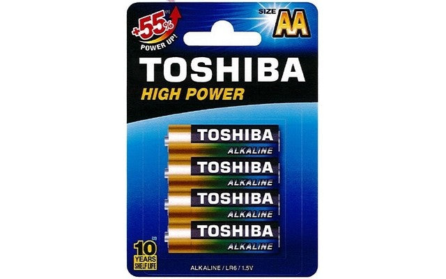 Toshiba AA High Power Alkaline Batteries (4)