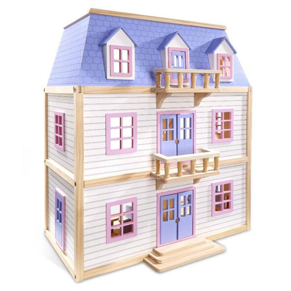 Melissa & Doug Multi-Level Wooden Doll House
