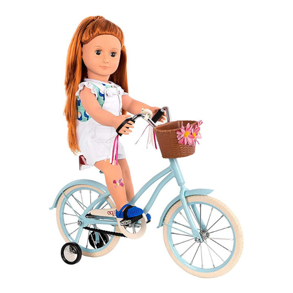 Our Generation Anywhere You Cruise Blue Bicycle For 18inch Doll