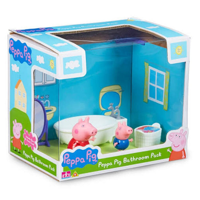 Peppa Pig Scene Backdrop - Bathroom