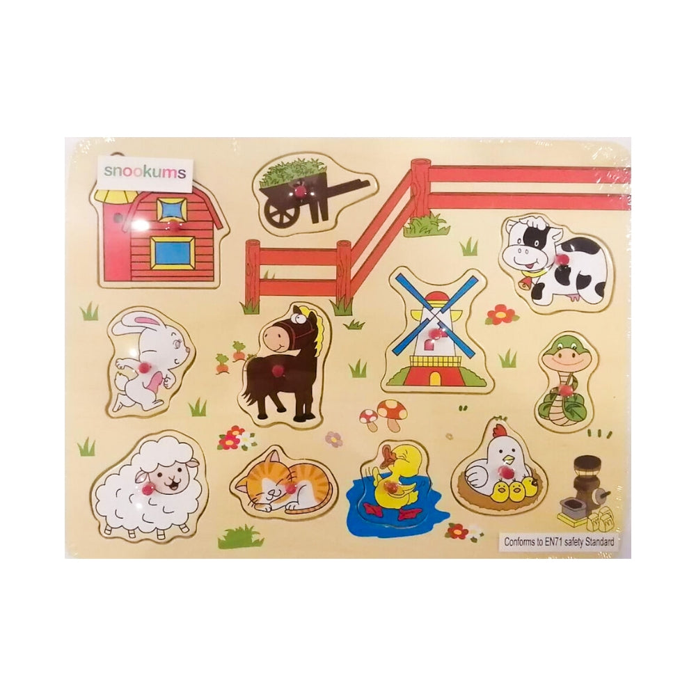 Snookums Wooden Puzzle - Farm