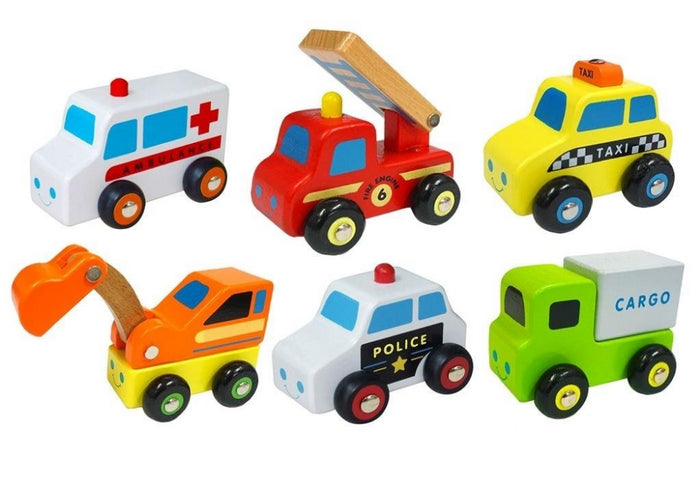 VIGA Mini Vehicles Set (6PC)