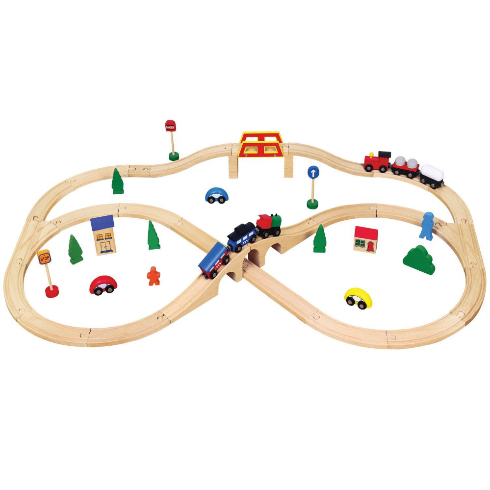 VIGA Smart Thinking - Train Set (49 PCE)