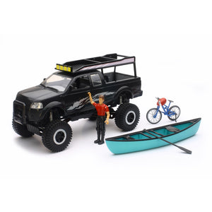 NewRay Xtreme Adventure Pickup Set with Suspension Black