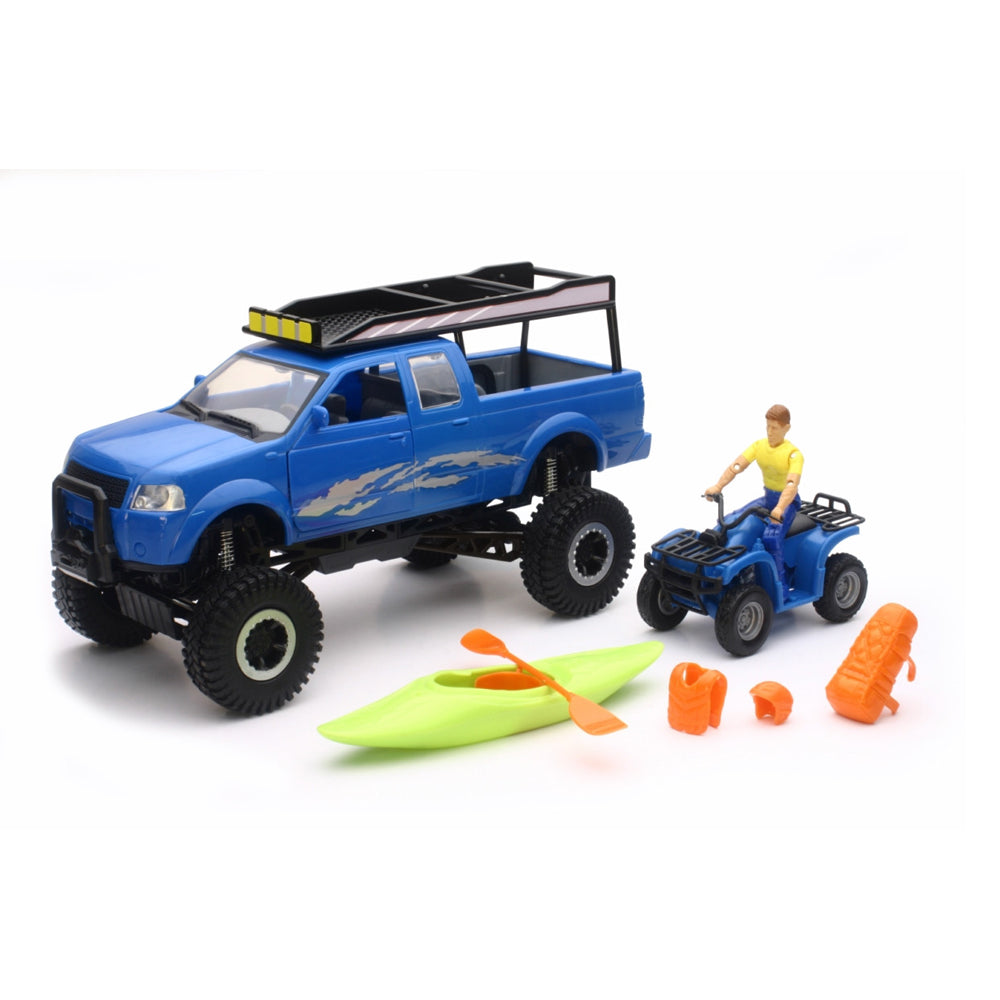 NewRay Xtreme Adventure Pickup Set with Suspension Blue
