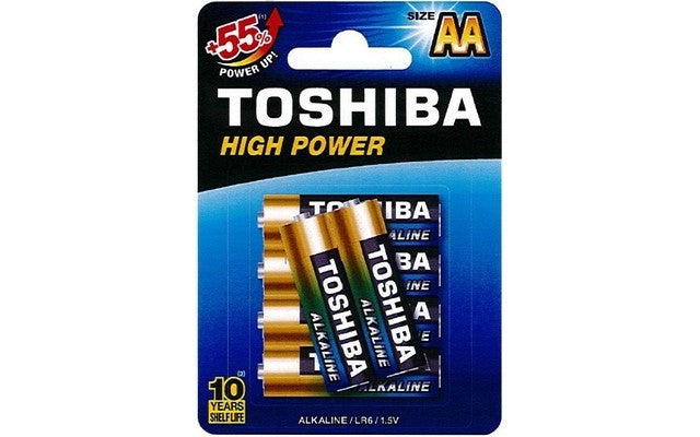 Toshiba AA High Power Alkaline Batteries (6)
