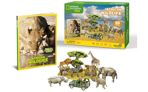 National Geographic - African Wildlife 3D Puzzle (69pc)