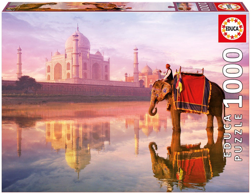 Educa Jigsaw Puzzle - Elephant At Taj Mahal (1000 Pieces)