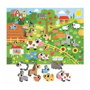 Headu Montessori Happy Farm Puzzle