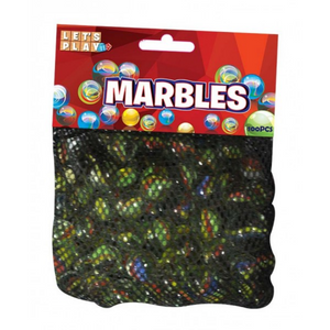 Let's Play - Marbles (100PK) In Net