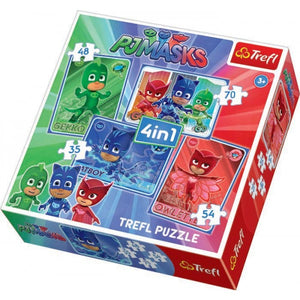 Trefl PJ Masks Catboy & The Team 4-in-1 Puzzle Box Set