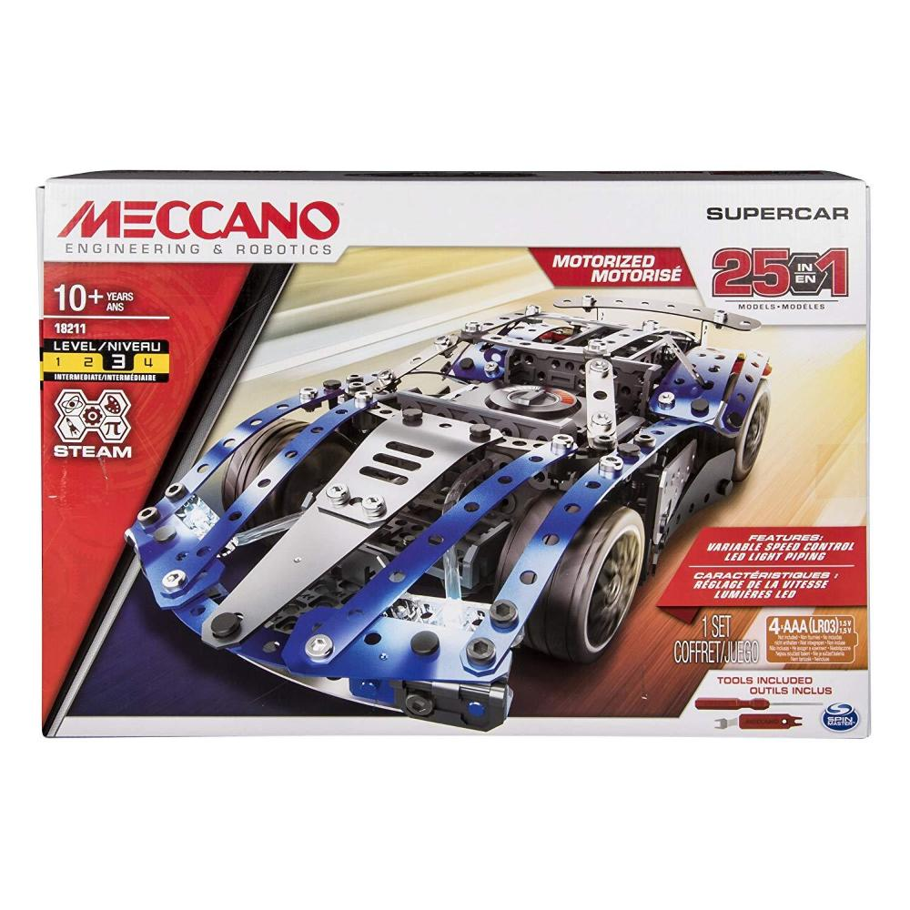 MECCANO 25 Model Supercar Set