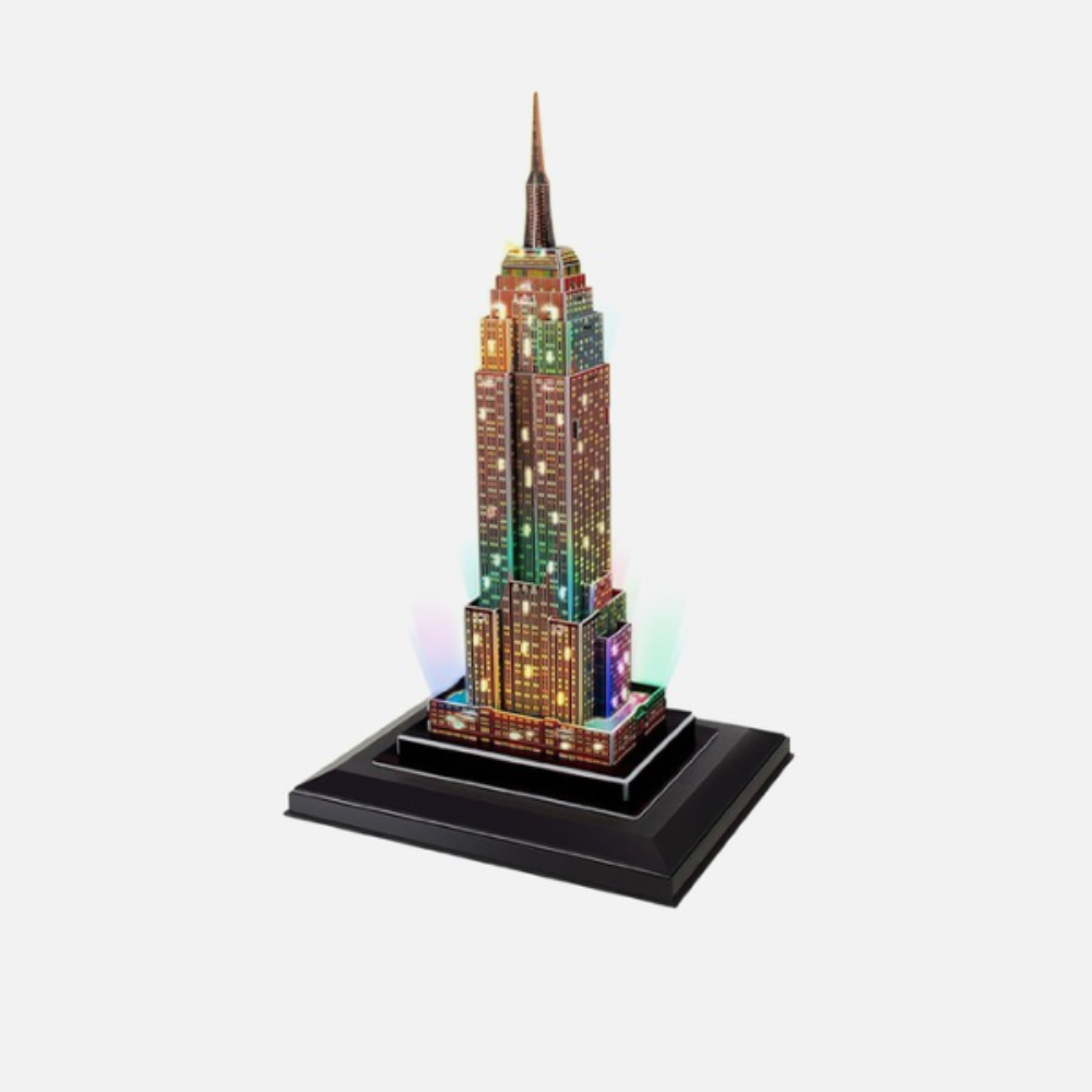 CubicFun Empire State Building (USA) 38pc 3D Puzzle With LED Unit