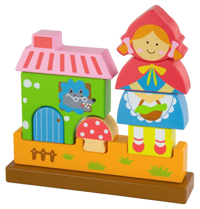VIGA Little Red Riding Hood Magnetic Standing Puzzle