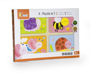 VIGA Smart Thinking - Puzzle 4-In-1 Insects