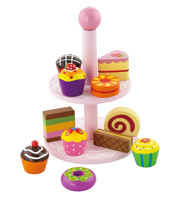 VIGA Cupcakes With Stand
