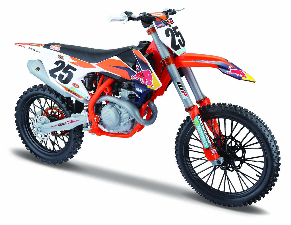 Maisto Red Bull KTM 450 SX-F 2017 Die-Cast Scale Model 1:6