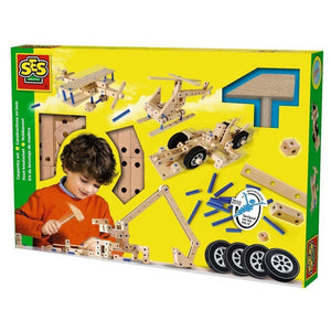 SES Creative Large Carpentry Set - Vehicles