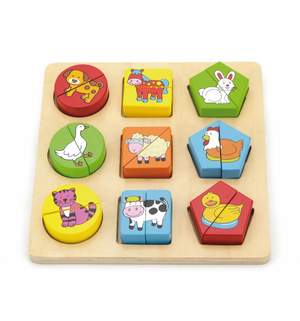 Viga Shape Puzzle - Farm Animals