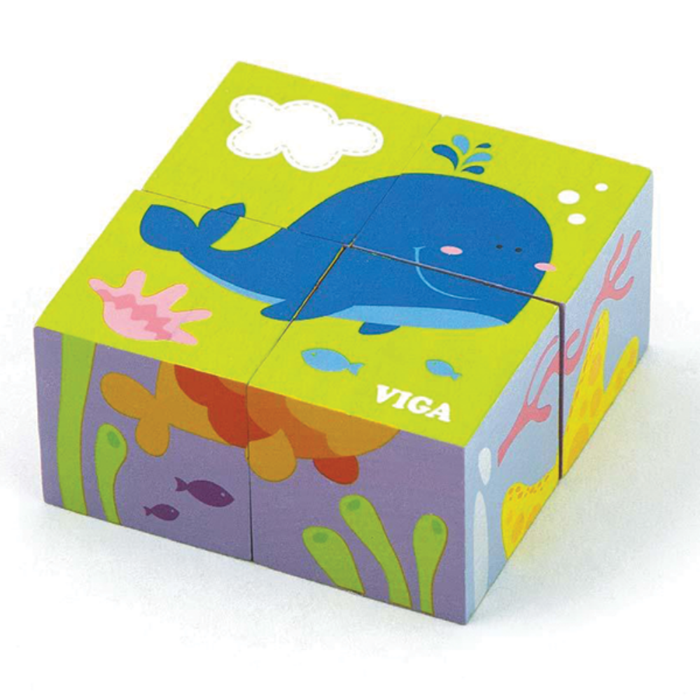 VIGA Sea Cube Puzzle (4PC)