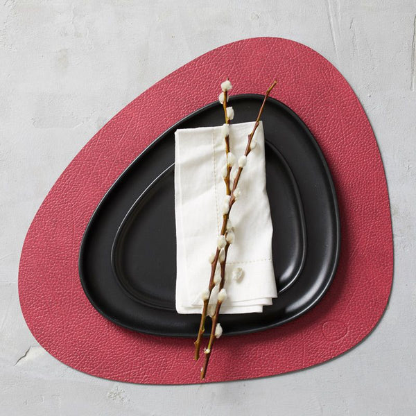 Pebbled Recycled Leather Placemats - Curve - Set of 4