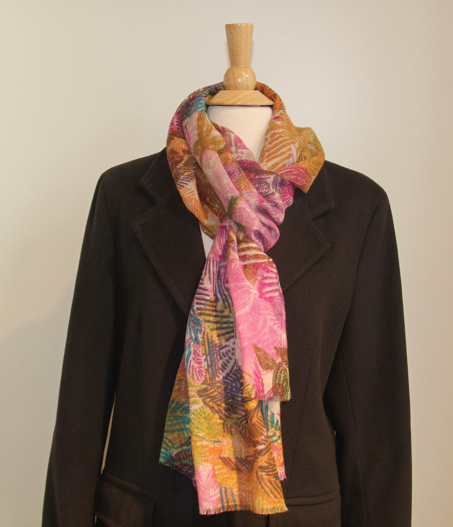 Patterned Wool & Silk Scarves