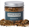 "Named after the Tokyo store where classic ""shichimi togarashi"" was first created, this blend of sesame seeds, soy sauce powder, orange zest, red chili flakes and spices imparts nutty, citrusy and umami flavours."