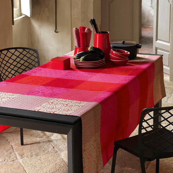 Fleurs de Kyoto Coated Tablecloth, Placemats & Napkins