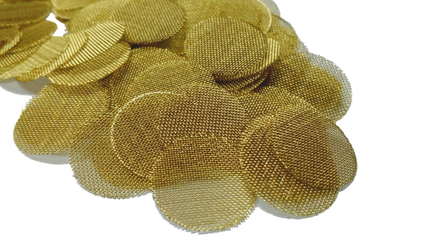 "GOLD LION GEAR - GRIMM Edition 100 Brass Pipe Screens - 3/4"" (.75)"