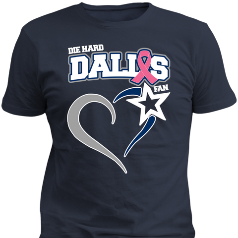 Die Hard Dallas Fan Breast Cancer Awareness Edition