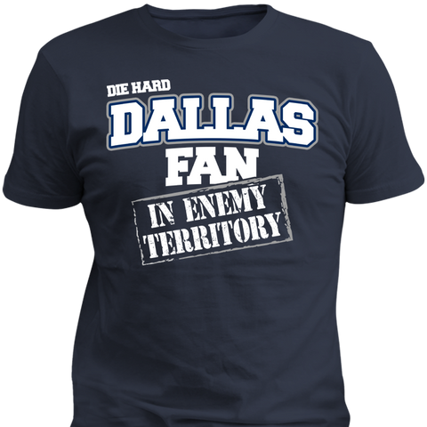 Diehard Dallas Fan In Enemy Territory