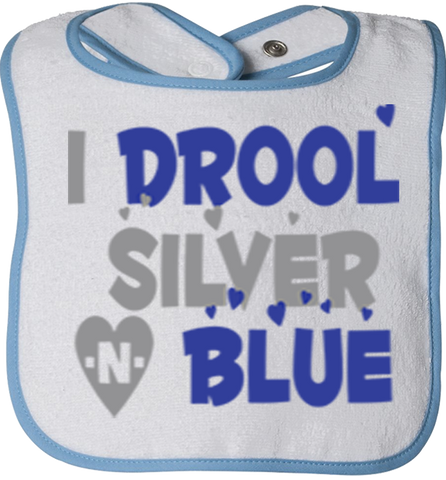 I Drool Silver N Blue Dallas Fan Bibs