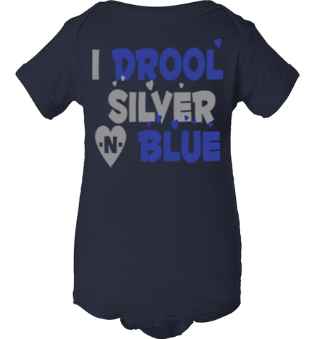 I Drool Silver N Blue Dallas Fan Onesie