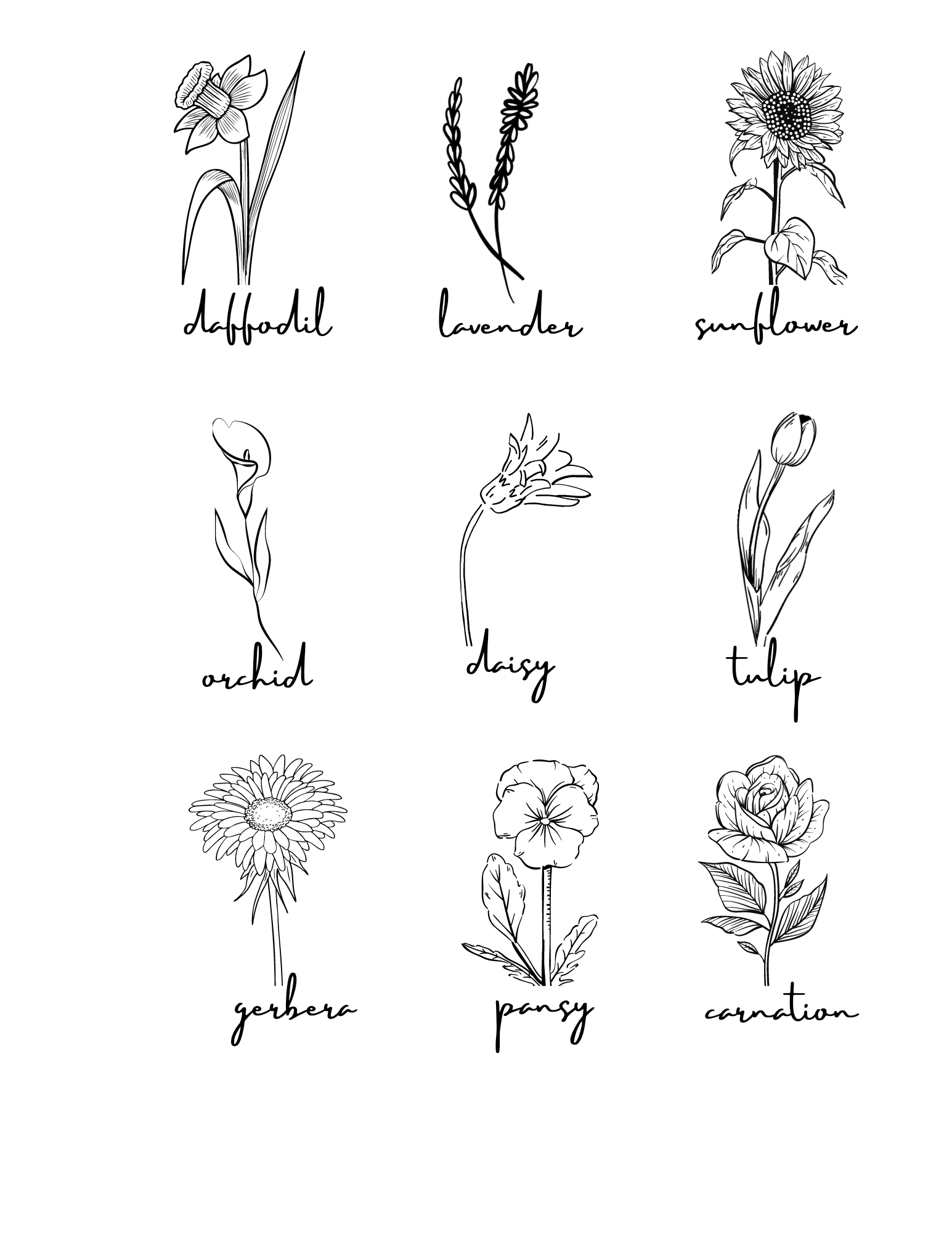 Flowers and Names