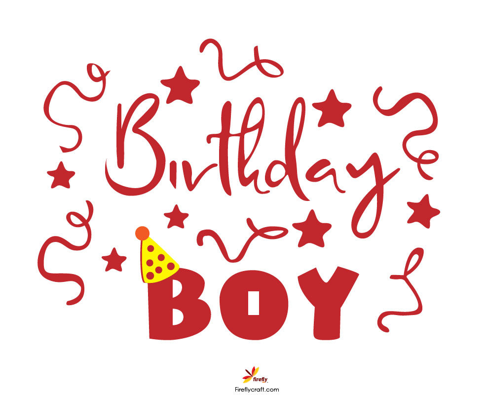 Birthday Boy Cut Design