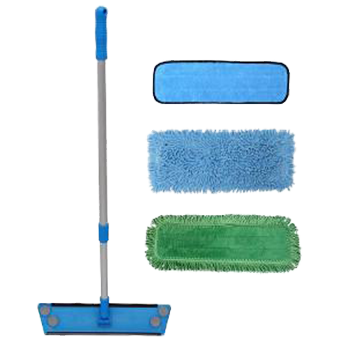 "Everest Microbial Defense™  Treated Microfiber Floor Mop Kit<font color=""#2e8ca9""><br>No more funk or odor with Antimicrobial  protection!</font><br><i>FREE SHIPPING</i>"