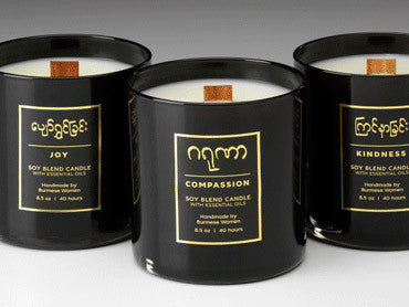 Prosperity Candle's hand-poured soy wax candles.