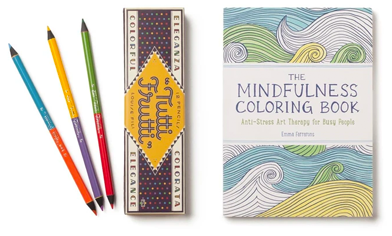 Tutti Frutti Colored Pencils & The Mindfulness Coloring Book