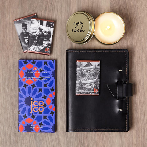 Rock Star Gift Set with Journal, Candle and Chocolate