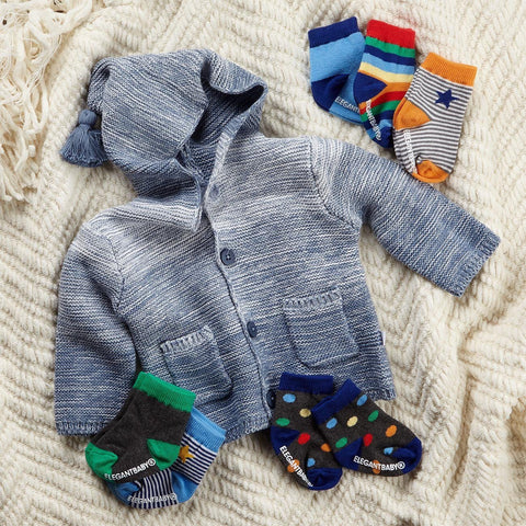 Blue Ombre Sweater and Socks Gift