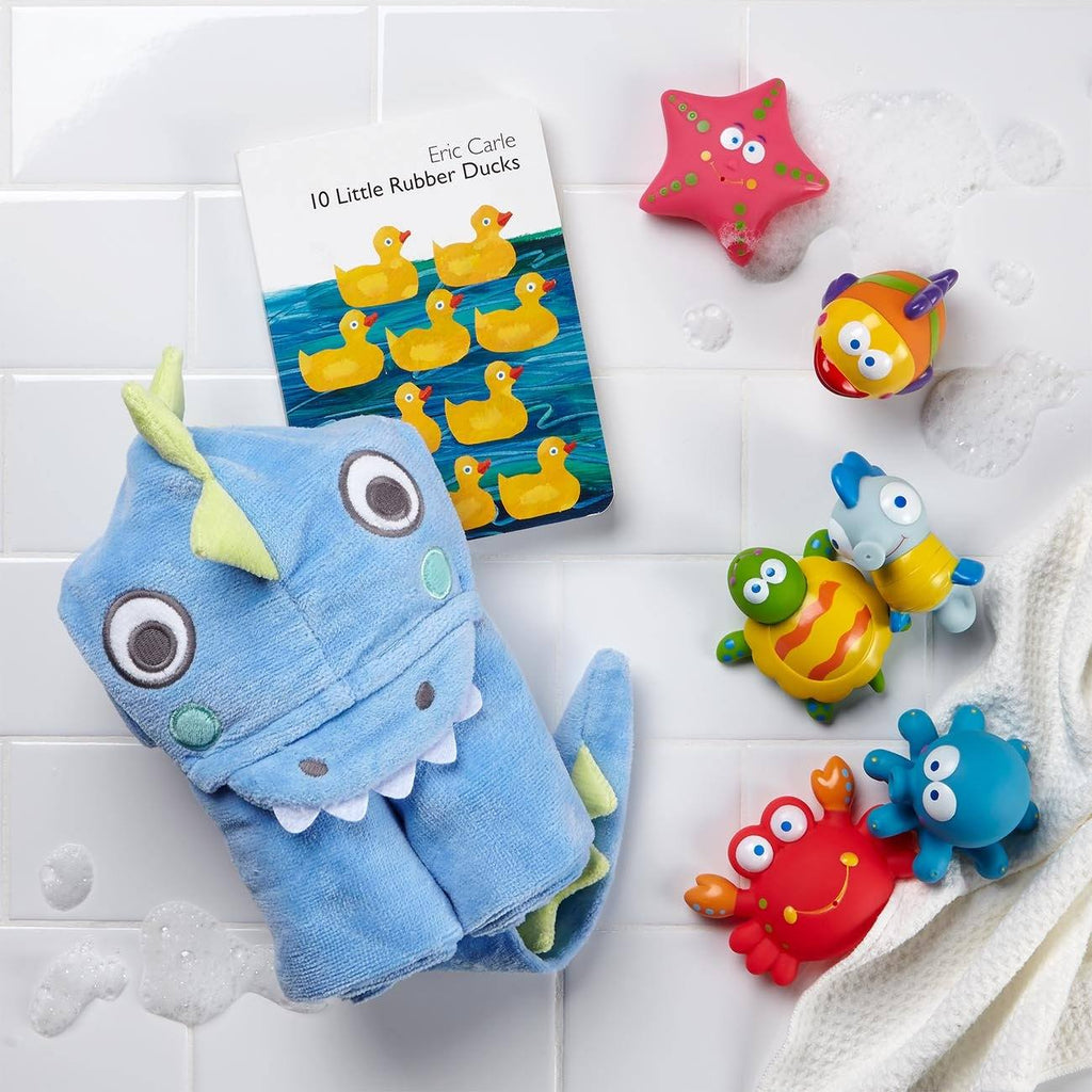 Bubble Bath Toys, Book, And Towel Set For Baby