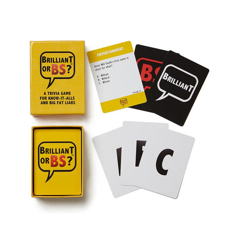 Brilliant or BS Card Game